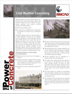 Cold Weather Concrete